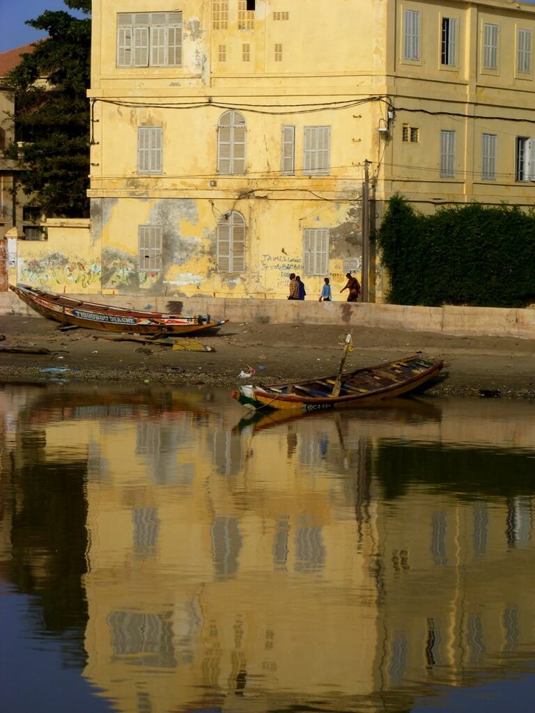 Senegal River  - Houses Reflection