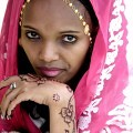 Ethiopia, Tigre, woman, beautiful, decorated, pink,