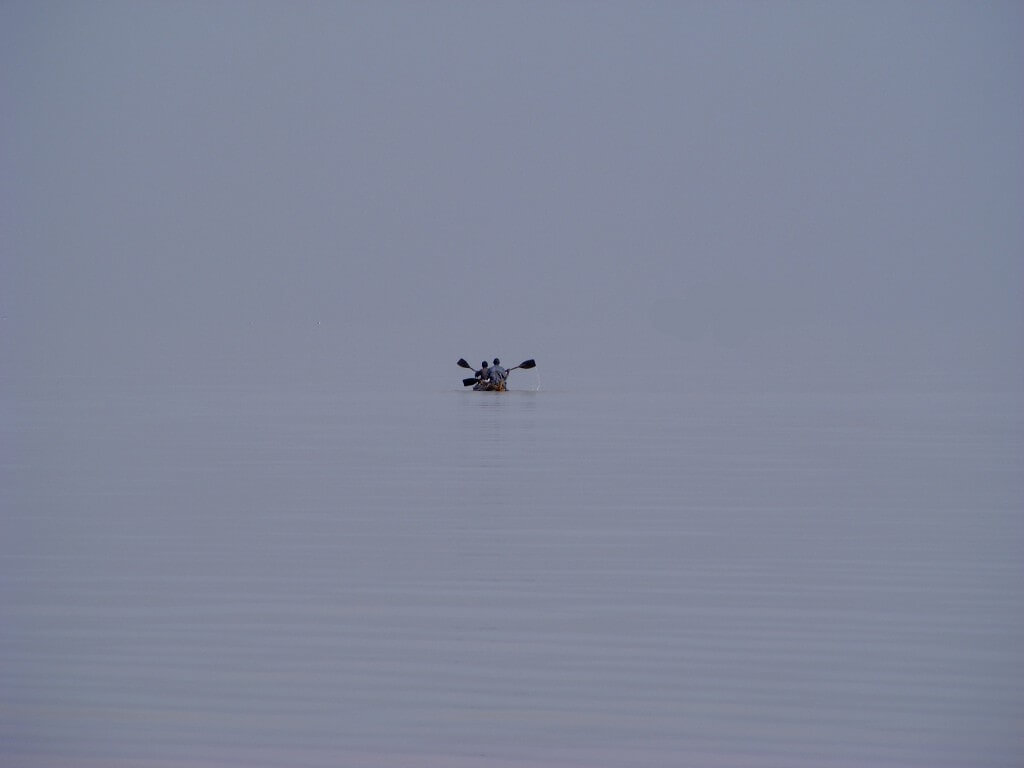 lake Tana, Ethiopia, fisherman, papyrus , water, gray,