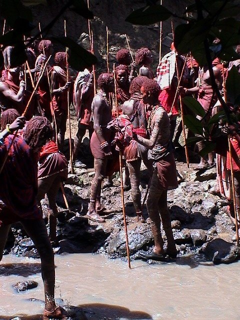 Eunoto, moran, ceremony, Kenya, warriors, mud,