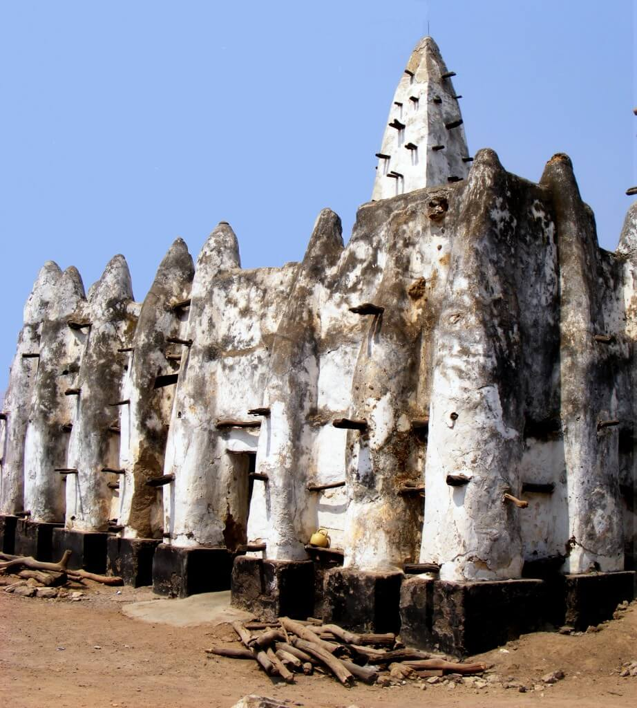 mosque, adobe, mud, tradition, Bole, old, sudanese style, Ghana,