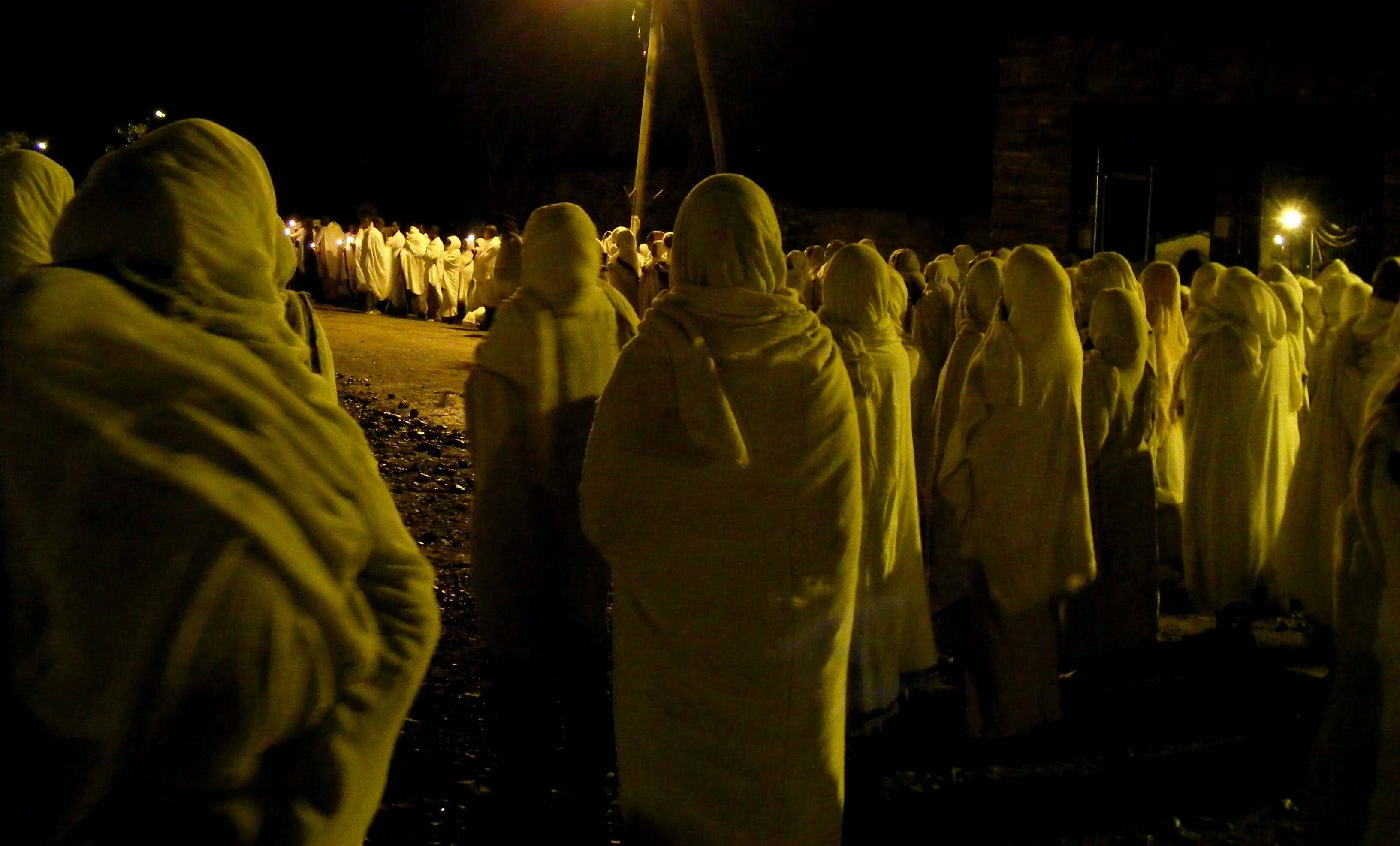 Ethiopia, Axum night pray