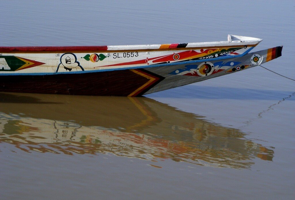 Pirouge, Senegal river, Decorated Boat, colorful,