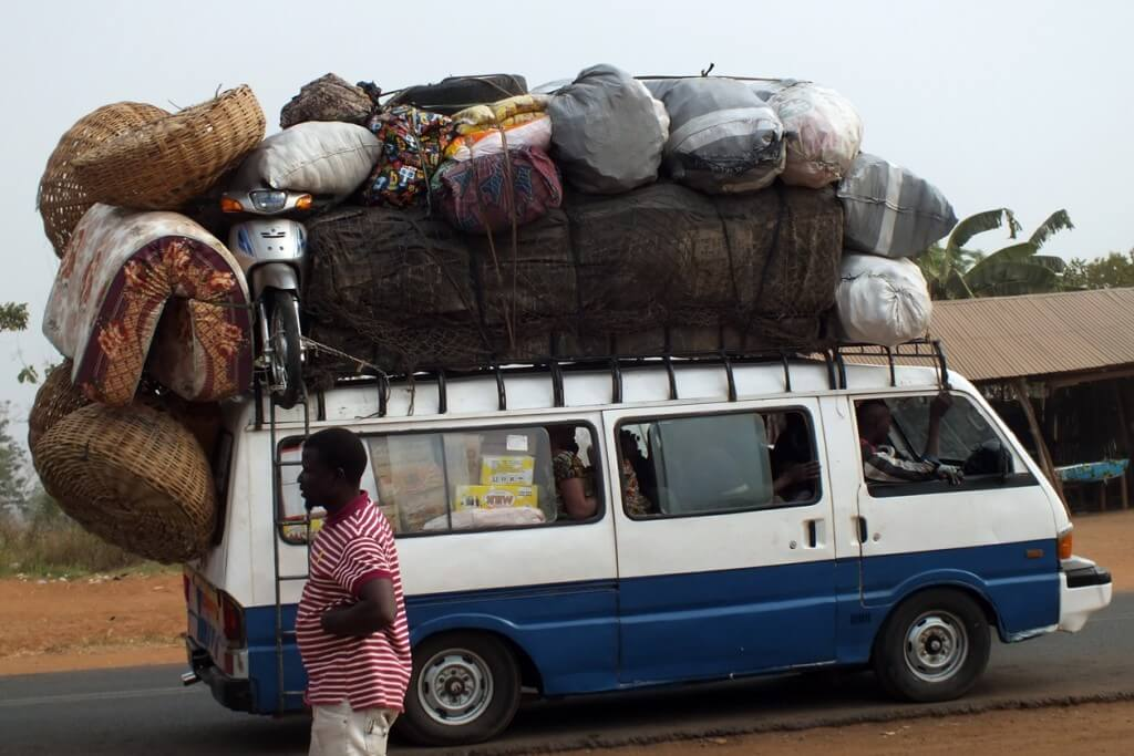 transport, public, Benin, over loaded,