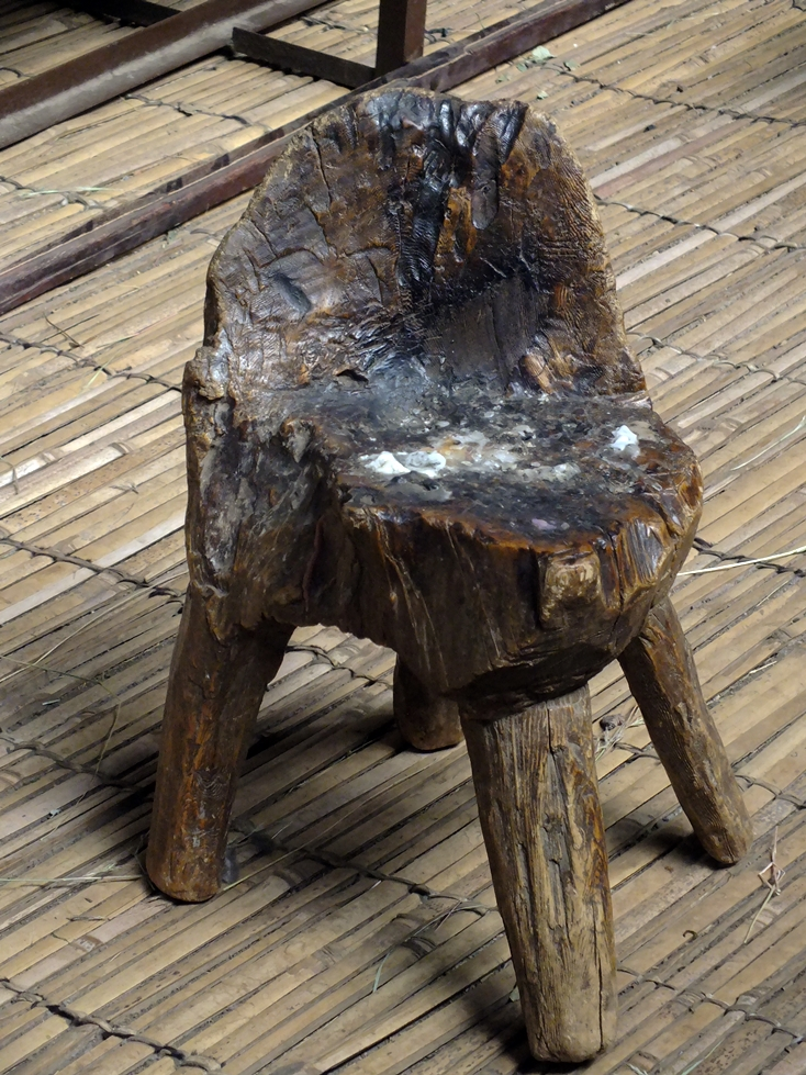 old, chair, wood,